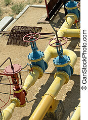 Valves and valve on the gas line.