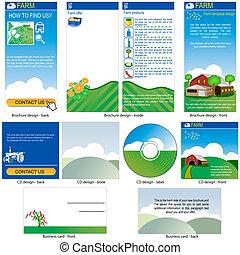 farm template design - Farm template - brochure design, CD...