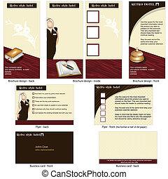 hotel retro template design - Hotel retro template -...