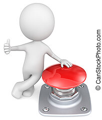 Red Button. - The Dude with thumb up and hand on red button.