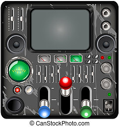 retro control panel - Illustration of a retro control panel