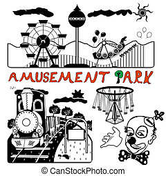 vector amusement park - Illustration of a vector amusement...