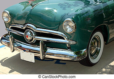 classic car - classic car photographed at car show in...