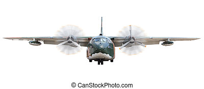old military  transportation  plane isolated  white