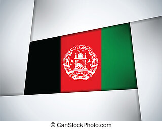 Afghanistan Country Flag Geometric Background