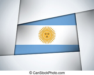 Argentina Country Flag Geometric Background