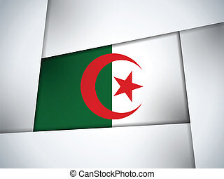 Algeria Country Flag Geometric Background