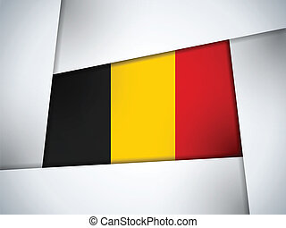 Belgium Country Flag Geometric Background