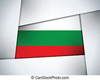 Bulgaria Country Flag Geometric Background