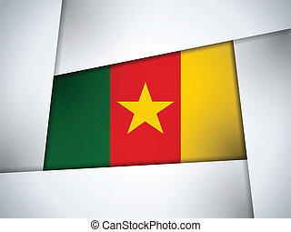Cameroon Country Flag Geometric Background