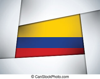 Colombia Country Flag Geometric Background