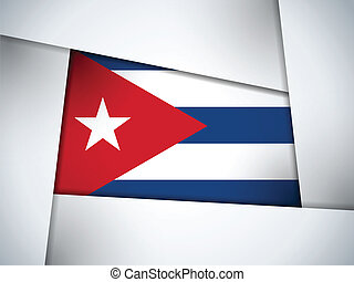Cuba Country Flag Geometric Background