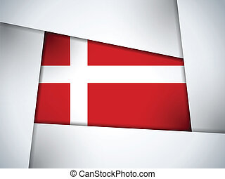 Denmark Country Flag Geometric Background