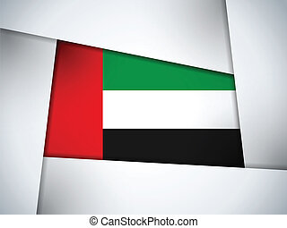 Emirates Country Flag Geometric Background