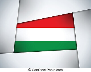 Hungary Country Flag Geometric Background - Vector - Hungary...