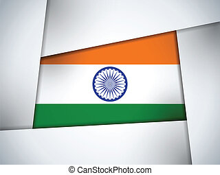 India Country Flag Geometric Background