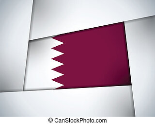Qatar Country Flag Geometric Background - Vector - Qatar...