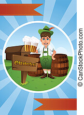 Oktoberfest banner - A vector illustration of Oktoberfest...