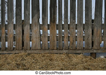 Corral Fence - Old Corral Board Fence