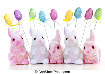 Easter bunny toys - Cute Easter bunny toys and balloons...