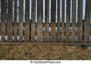 Windbreak for livestock - Livestock wind break in corral
