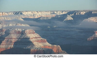 Winter at Grand Canyon - a scenic landscape of the grand...