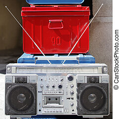 retro ghettoblaster - a fantastic looking retro ghetto...