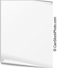 White Paper - Blank white paper sheet on white background,...