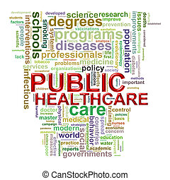 Public healthcare word tags