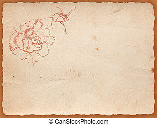 background with flower - vintage background with a...