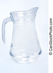 Water pitcher on grey background
