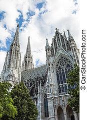 Vienna, Austria - famous Votivkirche ,Votive Church - Votive...