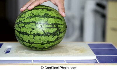 Water melon - Cutting a water melon