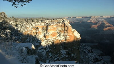 Grand Canyon Snow - a scenic landscape of the grand canyon...