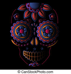 Day of the dead sugar skull