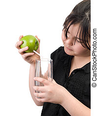 Apple Juice - Concept image of some fresh apple juice being...
