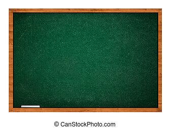 Green chalkboard with chalk - Empty blank green chalkboard...