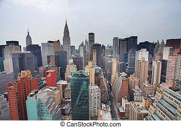manhattan skyline - skycrapers and towers in manhattan...