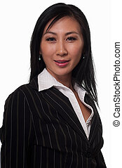 Asian business woman - Attractive brunette Asian woman...