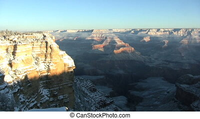 Grand Canyon in Winter - a scenic landscape of the grand...