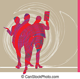 Businesspeople. Vector Illustration