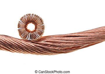 cobre, rollos, alambres