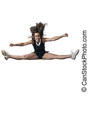 Cheerleader - Beautiful young woman in a cheerleading...