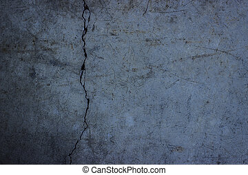 Cracked concrete background 2 - A grungy, cracked concrete...