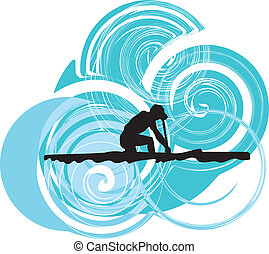Rowing Vector illustration
