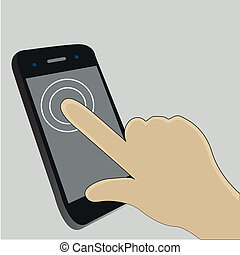 Touch Screen - One finger touch the screen to start an app