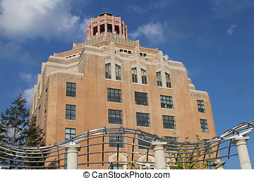 Asheville Cake Building - The art deco city hall building in...