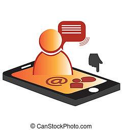 human mobile phone