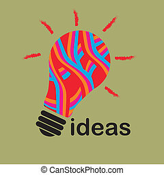 texture idea - a red blue orange texture bulb showing an...
