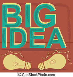 Big idea - Two yellow bulbs with a green big idea text